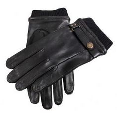 Dents Gloves - Black Casual Leather Gloves by Dents