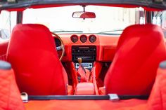 1974 Grey Datsun for sale in amazing Red Leather interior. Datsun For Sale, Datsun Car, Amazing Red, Leather Interior, Red Leather, Classic Cars, Restoration, Magic, Japanese