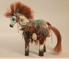 South of Santa Fe Painted Ponies by horse artist by MishasArt, $75.00