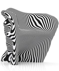 Chair made of paper slices
