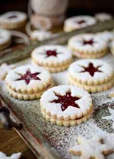 Linzer cookies are one of my absolute favourite cookies to make around the festive season. Linzer Cookies, No Bake Cookies, Kiss Cookies, Crinkle Cookies, Sugar Cookies, Cookie Desserts, Cookie Recipes, Dessert Recipes, Christmas Cooking