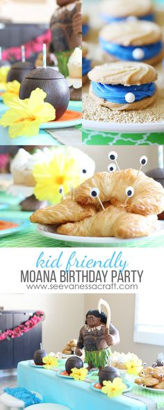 Disney Moana Hawaii Luau Birthday Party Ideas for Kids #ad