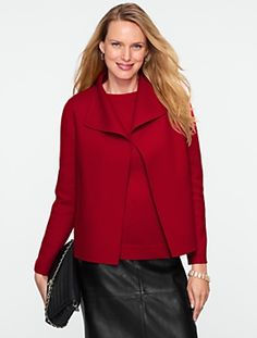 Talbots - Wing-Collar Double-Faced Jacket | Instant Polish |