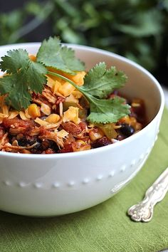 Savor Home: CROCK POT CHICKEN TACO CHILI