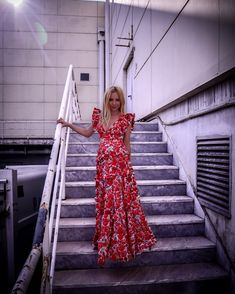Red Flowers, My Outfit, Layers, Outfits, Dresses, Fashion, Layering, Vestidos, Moda