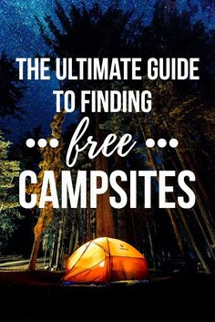 Learn where and how to find FREE campsites on your next road trip with this list of our favorite websites, apps & maps for finding free dispersed camping.
