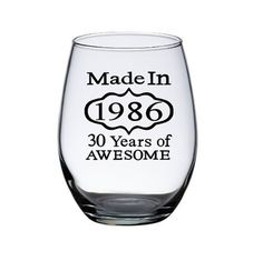 Birthday Wine Glasses, 30th birthday gift ideas,  Woman's 30th Birthday gift by PersonalizedGiftsUS