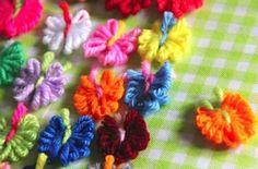 Tiny Yarn Butterflies