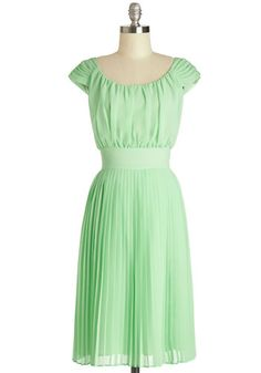 Walking by the Water Dress in Green | Mod Retro Vintage Dresses | ModCloth.com