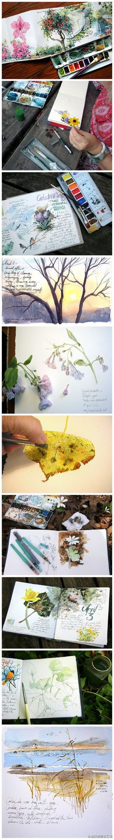 Watercolour painting... I so want to try this.