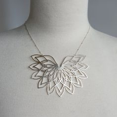 sterling silver sacred geometry 3d printed necklace by DaniMakes