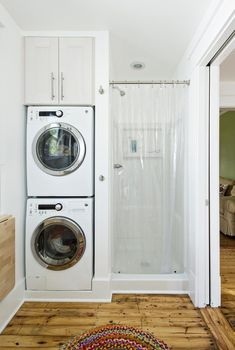 Small laundry room ideas stackable washer dryer laundry room traditional with laundry storage laundry storage stacked washer and dryer Stackable Laundry, Small Bathroom, Washer Dryer Laundry Room, Laundry Room Bathroom, Laundry Dryer, Bathroom Decor, Laundry, Apartment Bathroom, Laundry In Bathroom