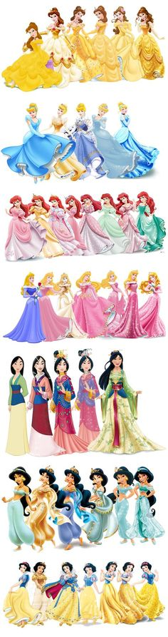 "Interesting evolution... I swear there's a ""Gold Period"" for almost every disney princess:"