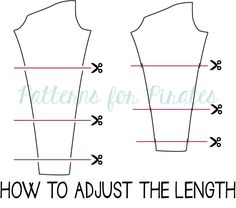 peg leg 101- Patterns for Pirates- PDF Sewing Patterns- P4P- blog post on how to sew the free legging pattern  How to adjust length for petite/tall adjustment
