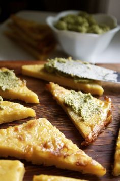 Recipe: Authentic Italian Chickpea Flat Bread | In Pursuit of More.  Few ingredients.  Needs to sit on the counter for a few hours.