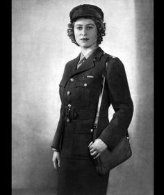 Princess Elizabeth in ATS uniform during WWII.
