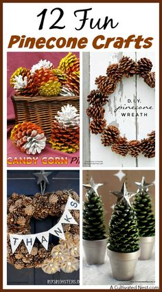Great DIY Home Decor Ideas for Fall or Christmas! Easy to do and inexpensive. 12 Fun Pinecone Crafts For Your Home! easy crafts, nature crafts, fall decorating ideas, Christmas decorating ideas