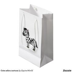 Cute zebra cartoon small gift bag