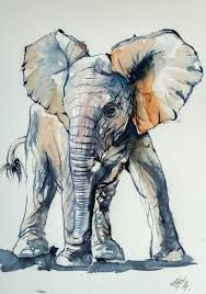 Image result for elephant painting ideas