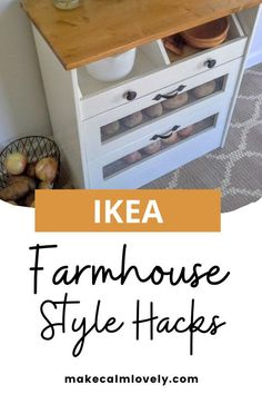 IKEA farmhouse style decor DIY hacks to make for your home