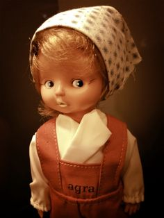 Old East Germany toy doll from the Berlin DDR Museum