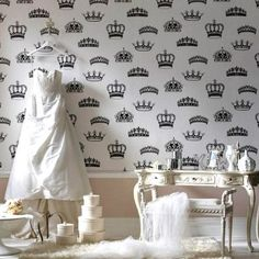 love this royal wedding inspired wallpaper designed by Graham & Brown