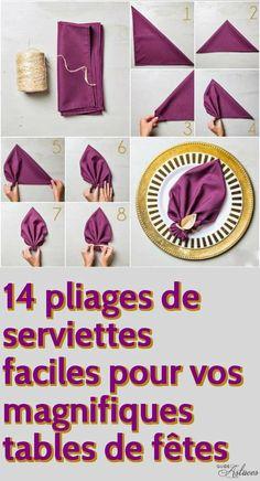 14 pliages de serviettes faciles pour vos magnifiques tables de fêtes