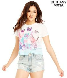 Kittens Crop Graphic T - Aéropostale® She's so pretty!