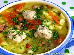 z cukrem pudrem: zupy Soups And Stews, Cheeseburger Chowder, Healthy Recipes, Meat, Chicken, Food, Polish, Vitreous Enamel, Essen