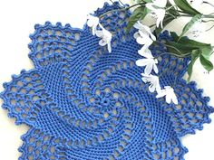 Thank you so much for visiting my store ! This listing for one Crochet Placemat. Diameter = 12 inches / 31 cm 100% Cotton Yarn. Color may vary slightly due to the color calibration of each individual monitor. ------------------------------------------------------- All items come Cross Stitch Patterns, Knitting Patterns, Crochet Baby, Knit Crochet, Color Calibration, Christmas Cross, Crochet Doilies, Crochet Projects, Doilies