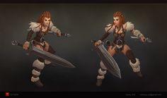 Barbarian girl, Volodya Lyubchuk on ArtStation at https://www.artstation.com/artwork/barbarian-girl-3a9e3a8e-9280-4940-b8d2-80c699226883