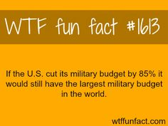 Largest military budgets in the world - WTF fun facts come on merica