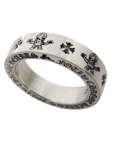 bca944ef047a Chrome Hearts Harris Teeter Print Silver Rings Chrome Hearts Ring