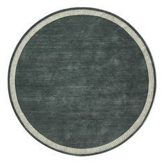Greek Key Border Hand Knotted Rug, 10' Round, Tapestry