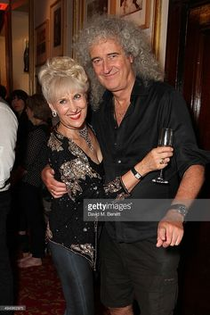 Dr. Brian May with his wife, Anita Dobson ♥