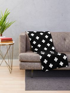 """Swiss Cross Pattern"" Throw Blanket by ValentinaHramov 