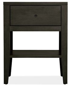 Calvin Nightstands - 19w 25h One-Drawer Nightstand - Maple with Charcoal Stain - Room & Board :: $450