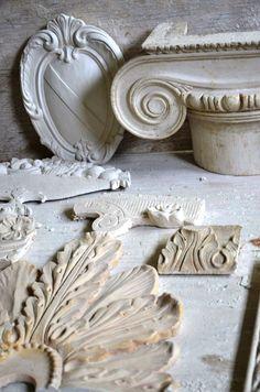 Terra cotta and plaster fragments