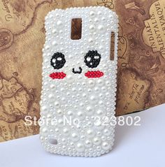 Aliexpress.com : Buy Cat Face Hard Pearl Case Cover with For Samsung GALAXY S II or 2 T Mobile T989 Sprint D710 Epic 4G Touch from Reliable case for GALAXY S2 D710 suppliers on Cell Phone Case Rhinestone Button Bead Resin Craft Alloy Jewelry $17.90