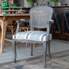 Cane Back Dining Armchair