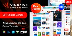 Vinazine - Joomla News Magazine Template ⠀ News Magazine Joomla Template Vinazine is a Unique News, Magazine Joomla template created for News agencies, Business Magazine, Technology Sites and all type of publishing or review site. It also c... ⠀ # #adsense #blogmagazine #cmsthemes #joomla #newsmagazine #newstemplate #newspaper #themeforest #tripples #blog #blogger #blogging #magazine #minimal #news #review #responsive #editorial Page Template, Website Template, Joomla Templates, Templates Free, Business Magazine, News Agency, Create Website, News Magazines, Magazine Template