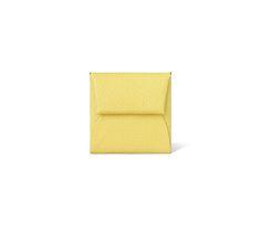 "Bastia Hermes change purse in Mysore goatskin (size GM) Measures 3.1"" x 3.3"" Palladium plated hidden snap closure Color : lime Ref. H039759CK9R $235.00"