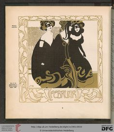 February, Ver Sacrum magazine, Volumn 4, 1901. Art nouveau.