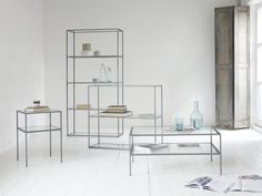 Steel and glass make these beauties light and airy. So it won't leave your sitting room feeling cramped or cluttered. Modern Bedroom Furniture, Minimalist Furniture, Bedroom Decor, Hallway Table Decor, Ikea Billy Bookcase Hack, Kitchen Organisation, Italian Home, Comfy Sofa, Curtains With Blinds