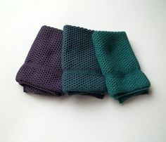 Dish Cloths Knit in Cotton in Emerald and by TheNeedleHouse $12.00