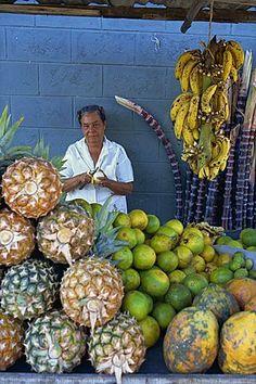 Fruit seller . Dominican Republic, West Indies
