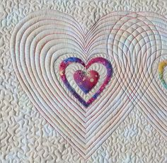 Heart Quilt Pattern- applique and free motion quilting; included in the Heart Pattern Bundle- patterns for quilts, boxes and more.