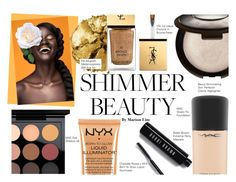 """""""Shimmer Beauty #2"""" by marionicole ❤ liked on Polyvore featuring beauty, MAC Cosmetics, Pat McGrath, Yves Saint Laurent, Charlotte Russe and Bobbi Brown Cosmetics"""