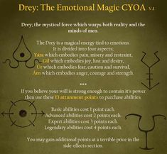 Drey: The Emotional Magic CYOA - Imgur