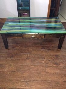 from dump to divine with Unicorn Spit non-toxic gel wood stain furniture